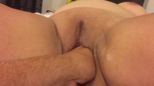 Fingering clit and fisting wifes pussy