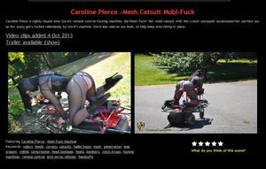 House of Gord: Caroline Pierce -Mesh Catsuit Mobi-Fuck (3 Clip)